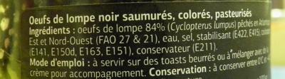 Oeufs de Lompe Noir - Ingredients