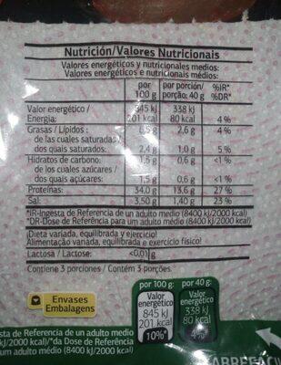Lomo Embuchado - Informació nutricional - es