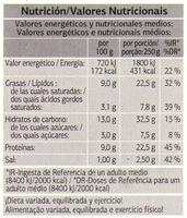 Lasanha Bolonhesa fresca - Nutrition facts - pt