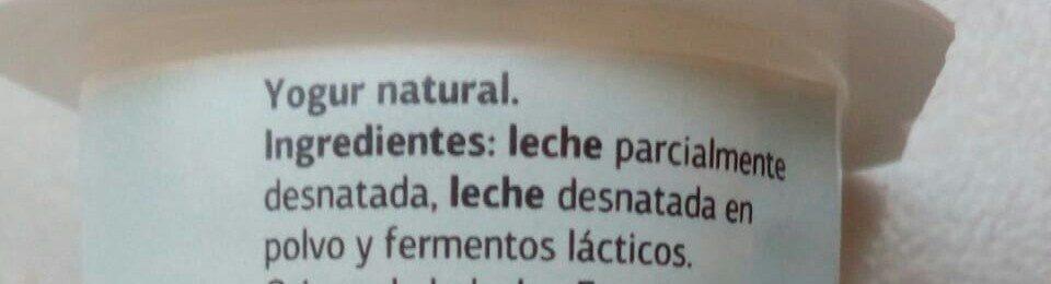 Yogur Natural - Ingredientes - es