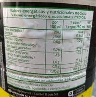 Bebida refrescante de zumo de limón - Informations nutritionnelles - es