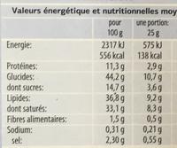 Gaufrettes fourrées au fromage - Nutrition facts - fr