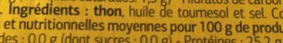 Atún girasol - Ingredientes