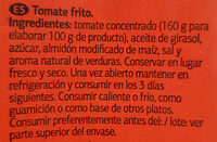 Tomate frito - Ingredientes - es