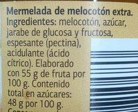 Mermelada de melocotón extra dia - Ingrédients