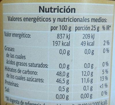 Mermelada de melocotón extra dia - Informations nutritionnelles