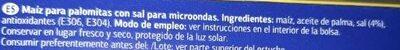 Palomitas para microondas - Ingredientes