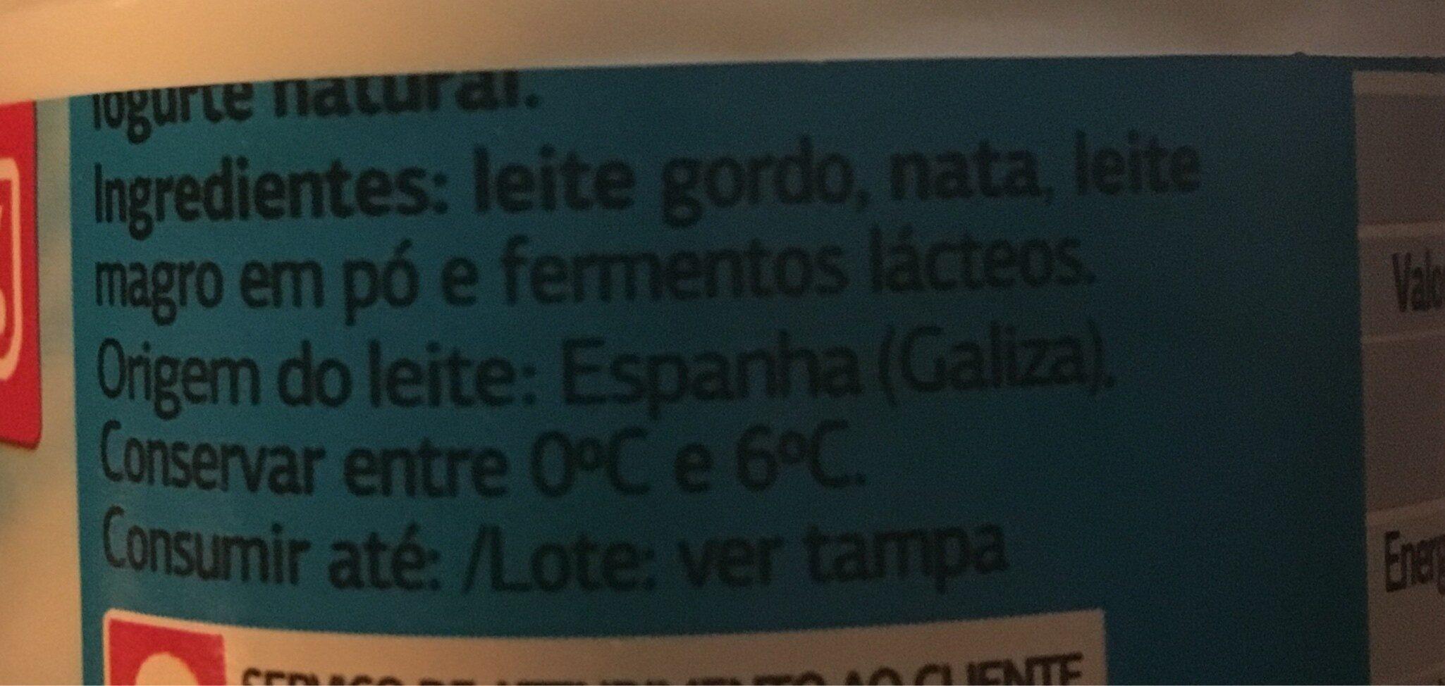 Yogur griego natural - Ingrédients - fr
