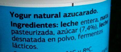 Griego Natural - Ingredientes