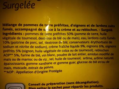 Tartiflette Surgelée - Produit - fr