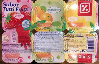 Gelatina multifrutas