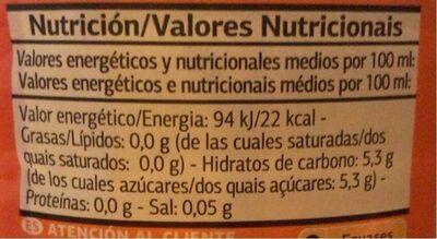 Get Move Naranja - Valori nutrizionali - es
