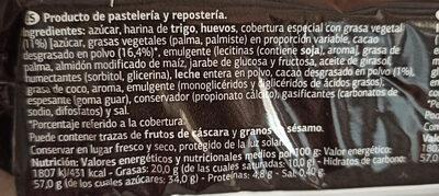 Pastel de marmol - Ingredients - es