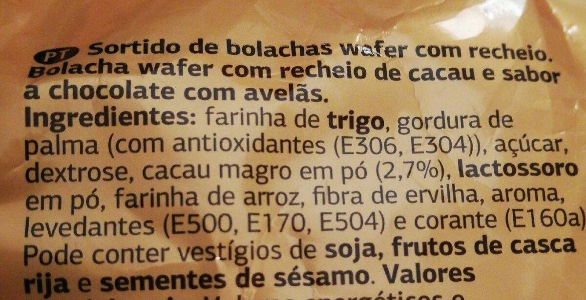 Surtido de Barquillos - Ingredients
