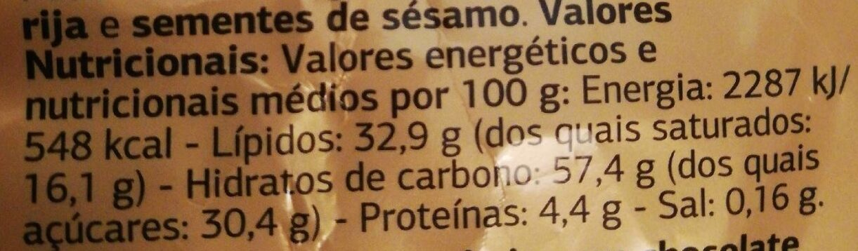 Surtido de Barquillos - Informació nutricional