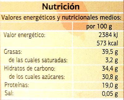 Turrón blando de Jijona - Información nutricional