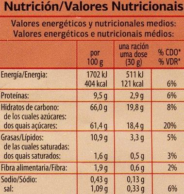 Maiz gigante sabor BBQ - Nutrition facts