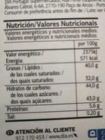 Trufas al cacao - Nutrition facts