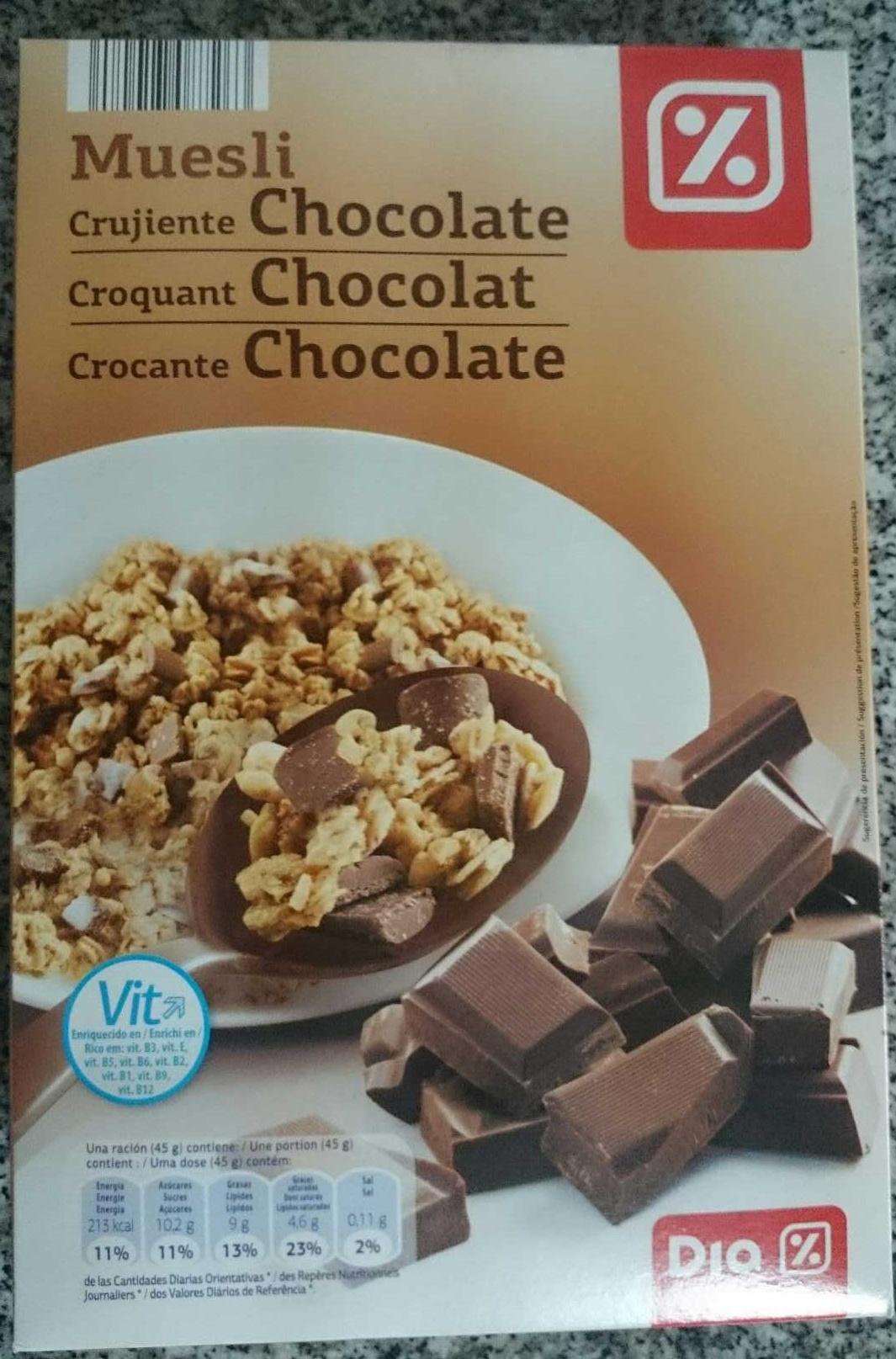 Muesli crujiente con chocolate negro - Producte