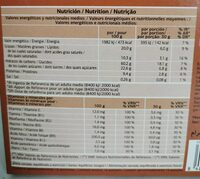 Muesli crujiente con chocolate negro - Nutrition facts - pt