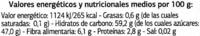 "Surtido de frutas desecadas ""Dia"" - Información nutricional"