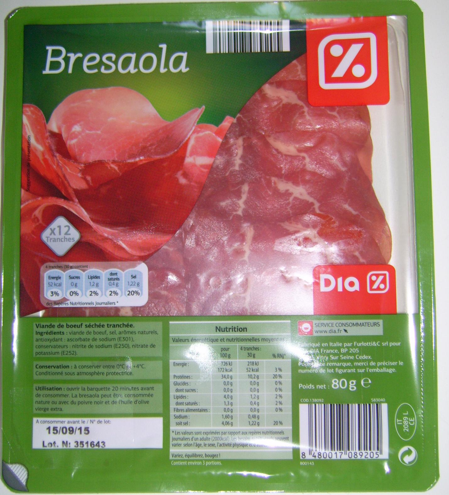 Bresaola - Dia - 80 g