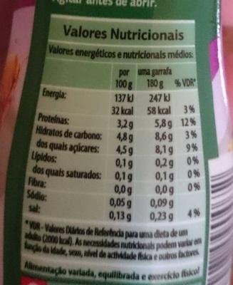 Bífidus ananás - Informação nutricional