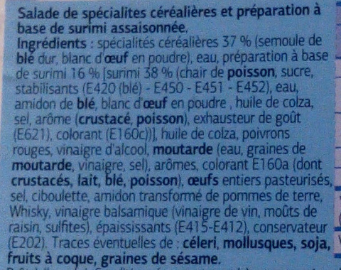 Torti au surimi - Ingrédients - fr