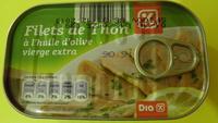 Filets de Thon à l'huile d'olive vierge extra - Dia - Produit
