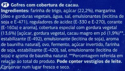 Gofres - Ingredients - pt