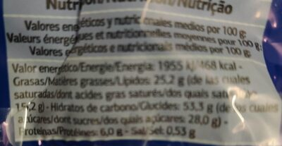 Gofres - Nutrition facts - pt