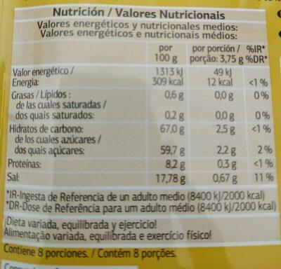 Sazonador para fajitas - Informations nutritionnelles
