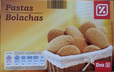 Pastas bolachas - Produit