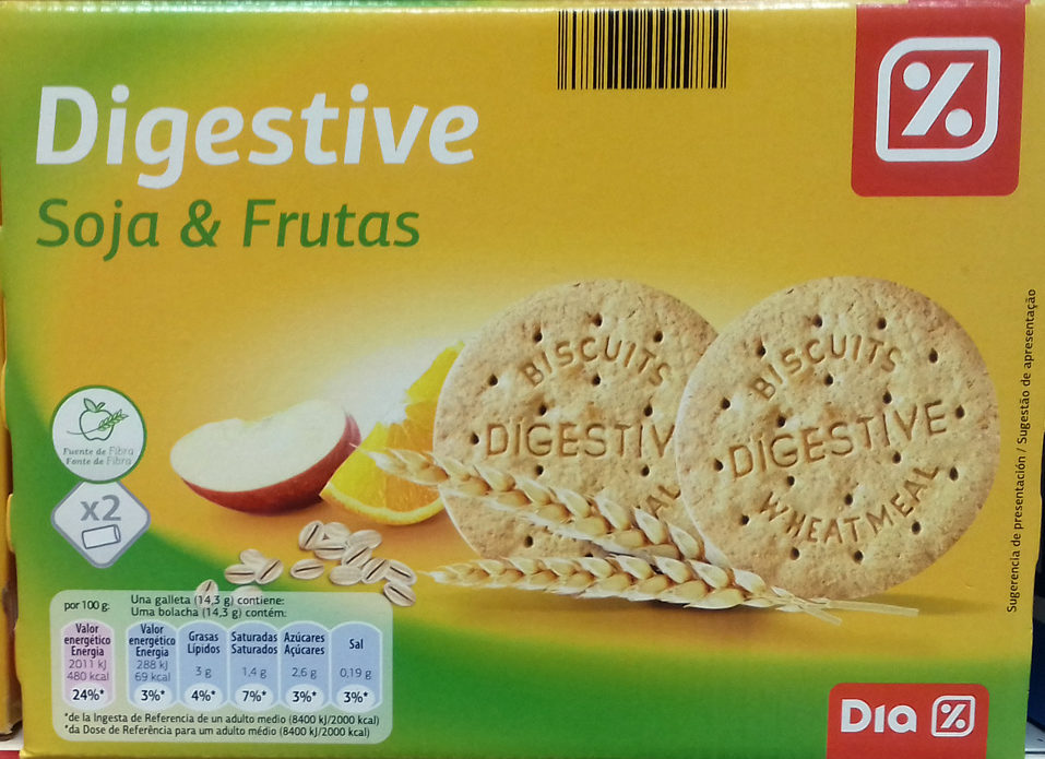 Galletas Digestive Soja & Frutas - Producto - es