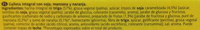 Galletas Digestive Soja & Frutas - Ingredients