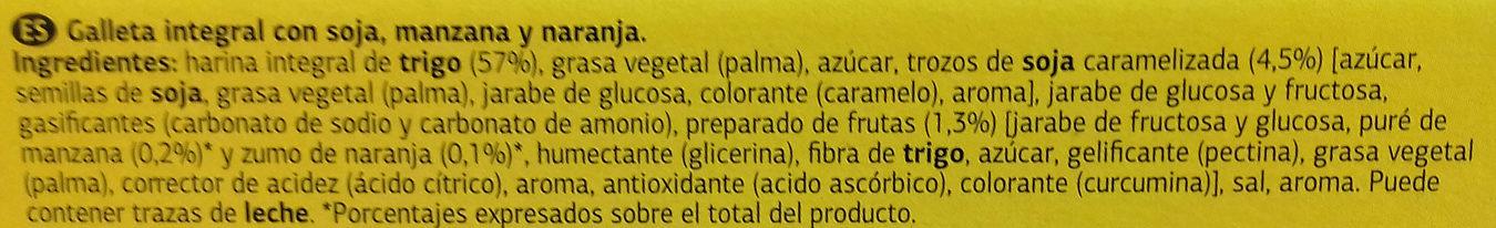Galletas Digestive Soja & Frutas - Ingredientes - es