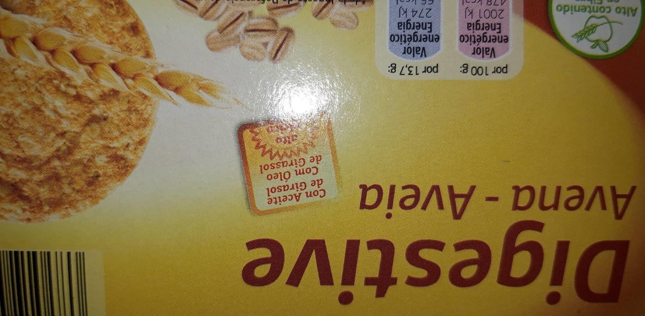 Digestive avena - Producto - es