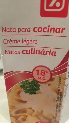 Nata para cocinar - Producto