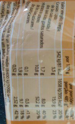 Fideos chinos de pollo - Voedingswaarden - es