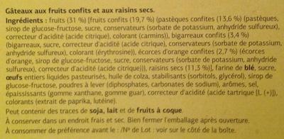 Mini Cakes Fruits Confis