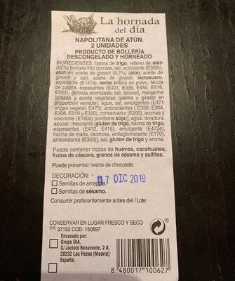 Napolitana de atun - Ingredientes - es