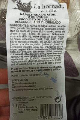 Napolitana de atun - Voedingswaarden - en