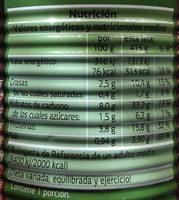 Lentejas con verduras Dia - Nutrition facts - es