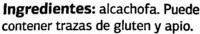 "Alcachofas troceadas congeladas ""Dia"" - Ingredientes"