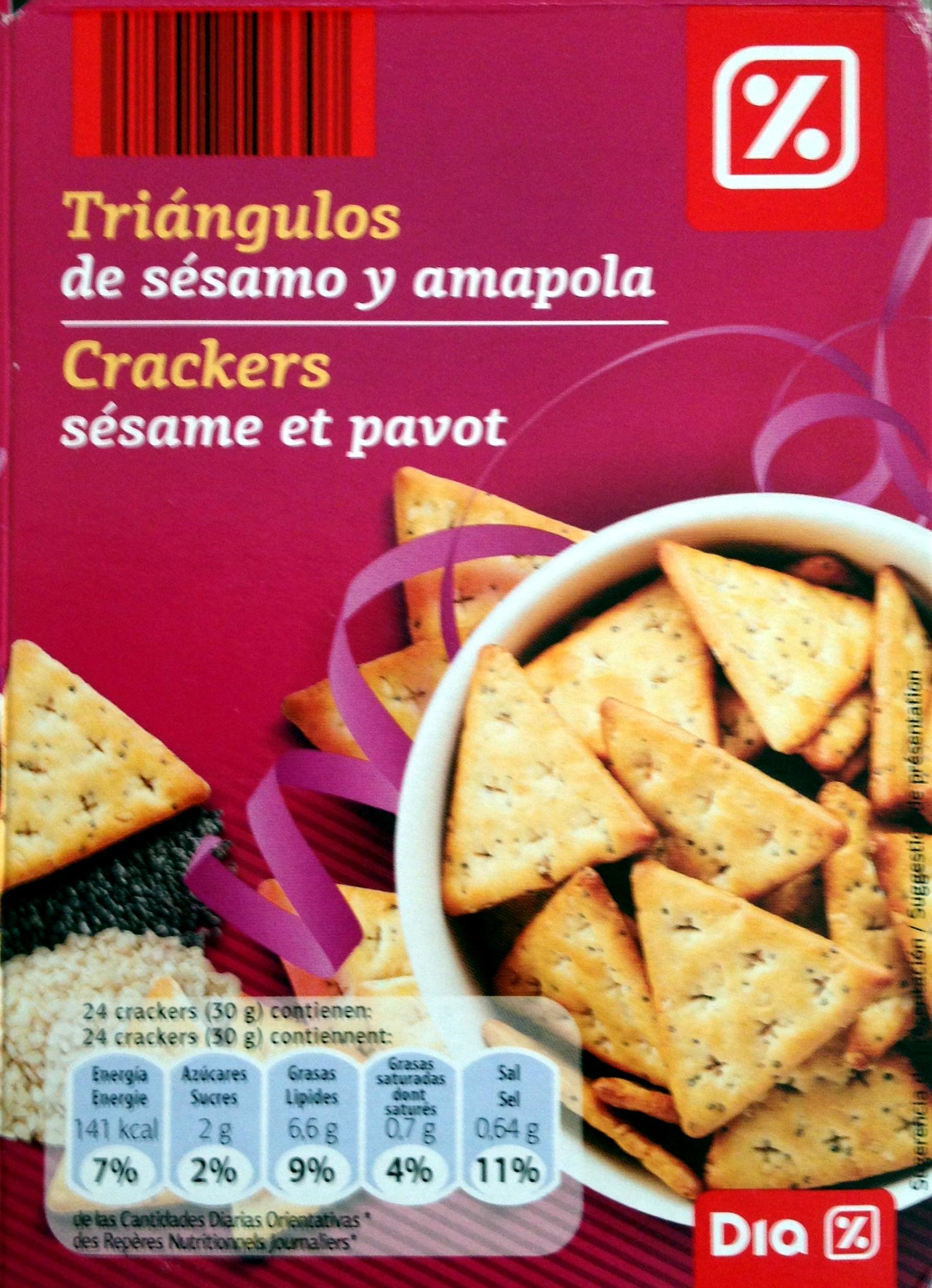 Crackers sésame et pavot - Produit - fr