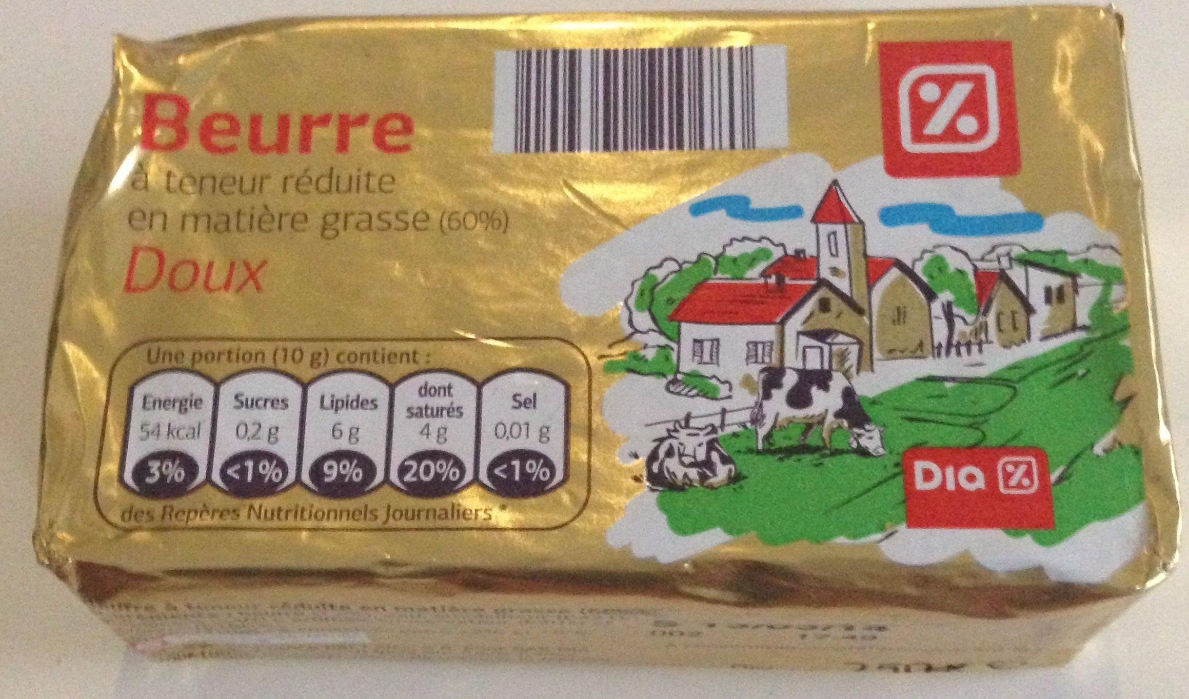 Beurre à Teneur Réduite en Matière Grasse (60%) Doux - Product