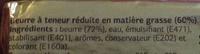Beurre à Teneur Réduite en Matière Grasse (60%) Doux - Ingrediënten