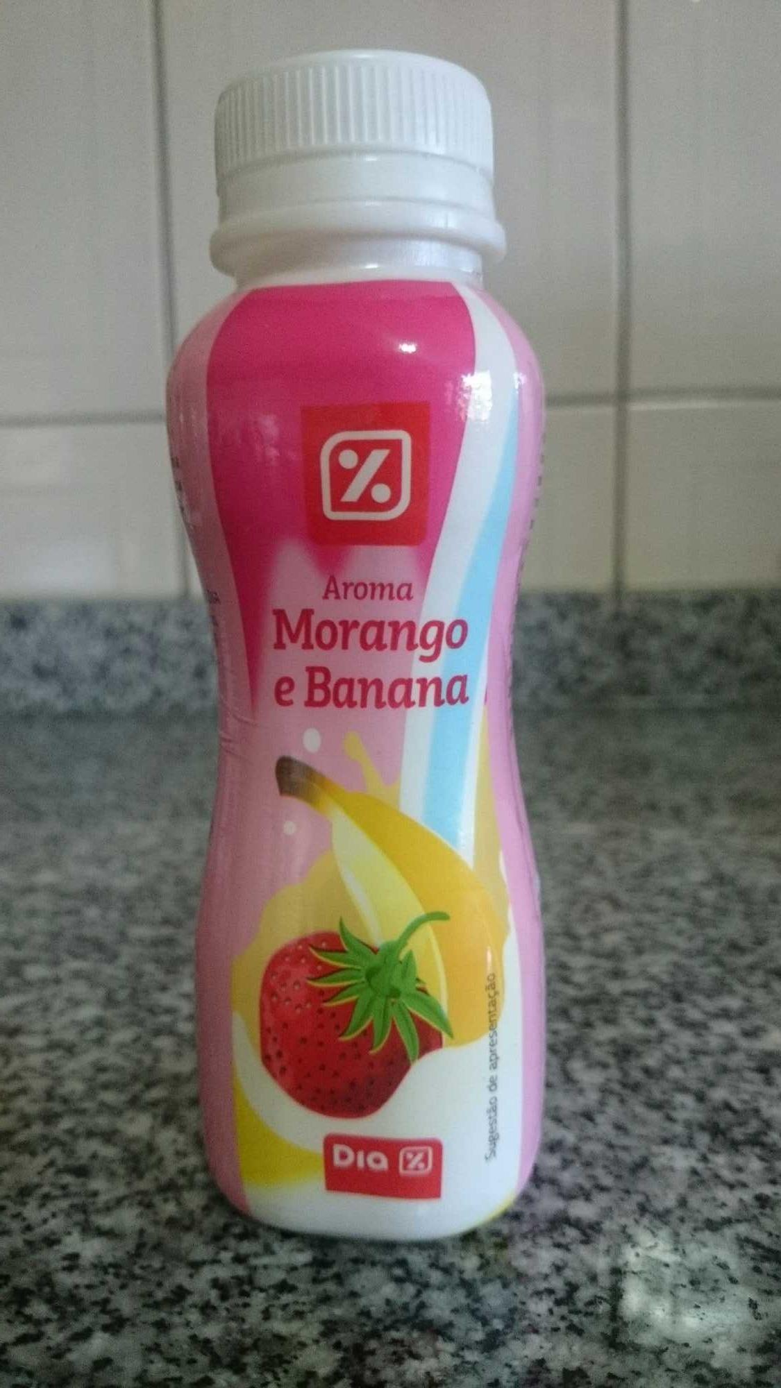 Iogurte líquido morango e banana - Produit - pt