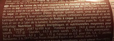 Digestive chocalat - Ingredients