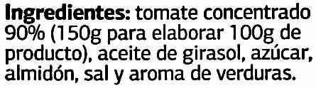 """Tomate frito """"Dia"""" - Ingredientes - es"""
